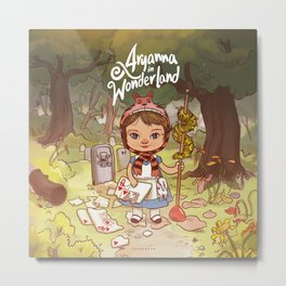 Aryanna in Wonderland Metal Print