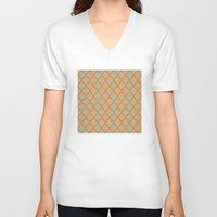 moroccan V-neck T-shirts featuring Moroccan Orange by Mr and Mrs Quirynen