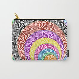 Psychedelic Zebra Mash-up Carry-All Pouch