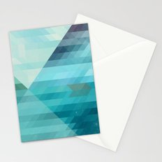 Lake and boat Stationery Cards