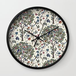 William Morris Trees and Bluebirds  Wall Clock