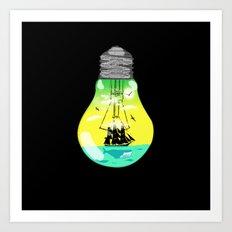 The idea of sailing the seas Art Print