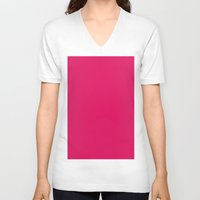 ruby V-neck T-shirts featuring Ruby by List of colors
