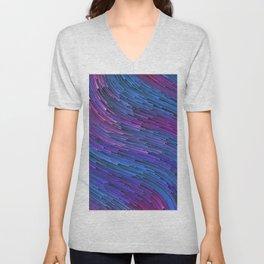 LAST DESIRE - Abstract Digital Image Texture Glitch Art Unisex V-Neck