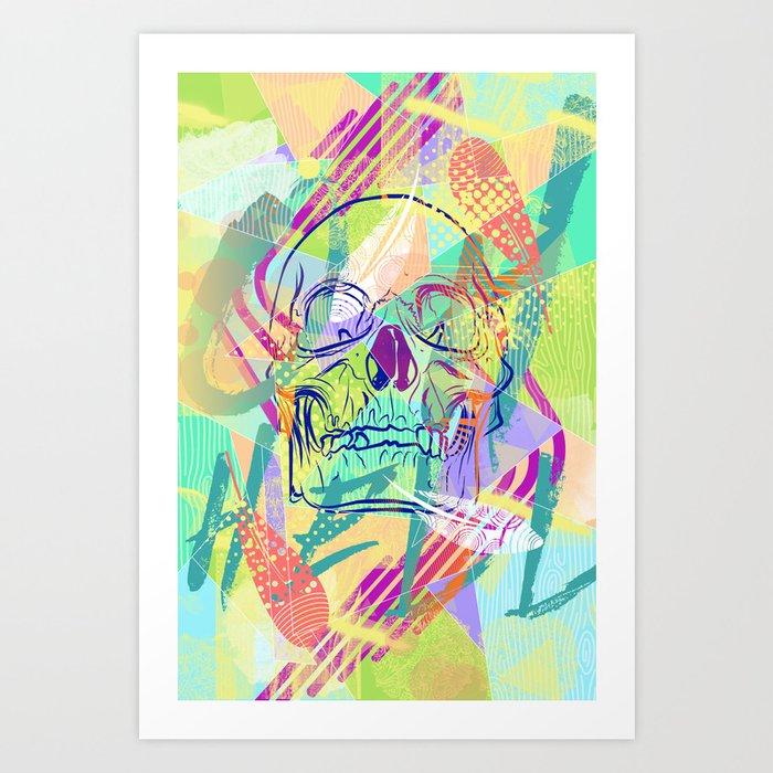 Oh Hell Sherbert Skull Art Print