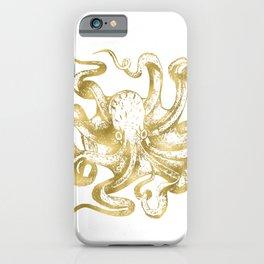 Gold Octopus iPhone Case