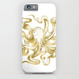 Gold Octopus iPhone Case