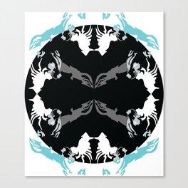 wolf eclipse Canvas Print