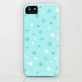 AFE Turquoise Snowflakes iPhone Case