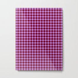 Lavender Violet and Burgundy Red Diamonds Metal Print