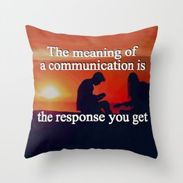 Meaning of a Communication Throw Pillow
