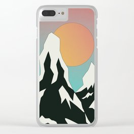 Mountains III Clear iPhone Case