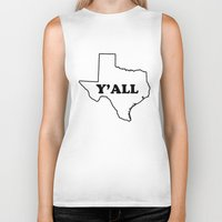 texas Biker Tanks featuring Texas Yall by Spooky Dooky