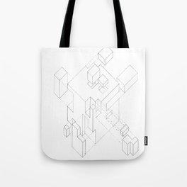 Split Cube Tote Bag
