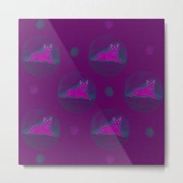 Neon Noir Dog pattern Metal Print