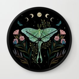 Luna and Forester Wall Clock