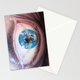 Death in the eyes Stationery Cards