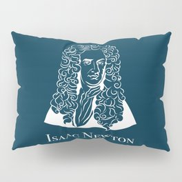 Illustration of Isaac Newton Pillow Sham