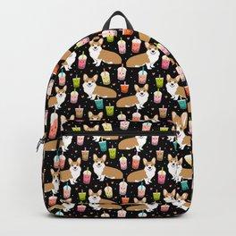 corgi boba tea bubble tea cute kawaii dog breed fabric welsh corgis dog gifts Backpack