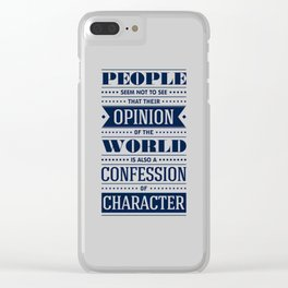 Lab No. 4 People Seem Not to Ralph Waldo Emerson Inspirational Quote Clear iPhone Case
