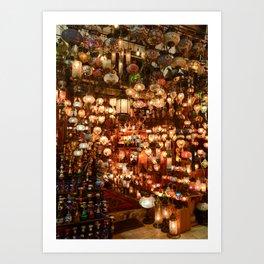 Istanbul Lights Art Print