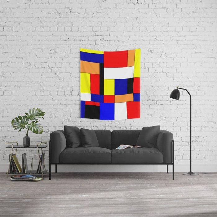 Mondriaan #9 Wall Tapestry