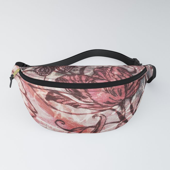 Red Tulip Fanny Pack