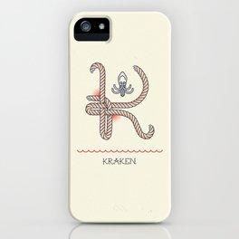 Ahoy! Letter K iPhone Case