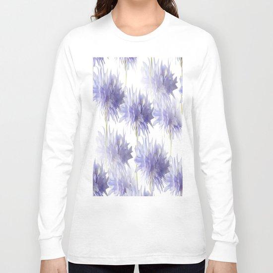Pale Blue Cornflowers Long Sleeve T-shirt