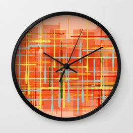 Abstract Orange Terminal Wall Clock