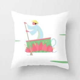 Tea Lilly Cup Throw Pillow