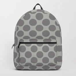 Benjamin Moore Cinder Dark Gray AF-705 Uniform Large Sized Polka Dots on Metropolitan COY 2019 Backpack