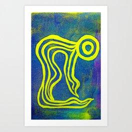Yoga Art by Gina Lee Ronhovde Art Print
