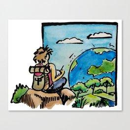 Draw the World Canvas Print