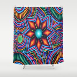 QUYLUUR INDIAN PAINTING Shower Curtain
