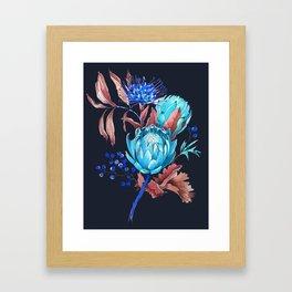 King protea flowers Framed Art Print