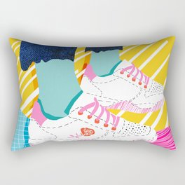 Butter - throwback 80s style vibes shoes fashion sneakers 1980's trend memphis art Rectangular Pillow