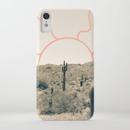 Wonder Rift // Abstract Vintage Mountains Summer Sun Surfer Beach Vibes Drawing Happy Wall Decor iPhone Case