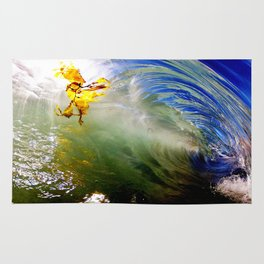 Backlit Kelp & Glassy Shorebreak Barrel Rug