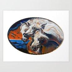 The Pharoah's Horses Art Print