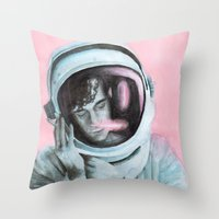 matty healy Throw Pillows featuring ASTRO BOY // MATTY HEALY by Jethro Lacson