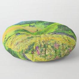 Alaska's Kenai Peninsula - Watercolor Floor Pillow