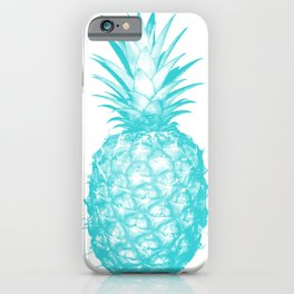 Teal Pineapple iPhone Case