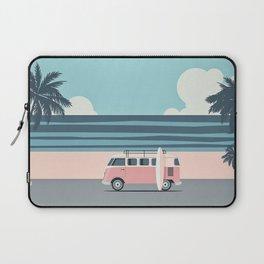 Surfer Graphic Beach Palm-Tree Camper-Van Art Laptop Sleeve