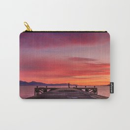 Sunset and Fishermen Carry-All Pouch