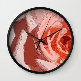 orange rr Wall Clock