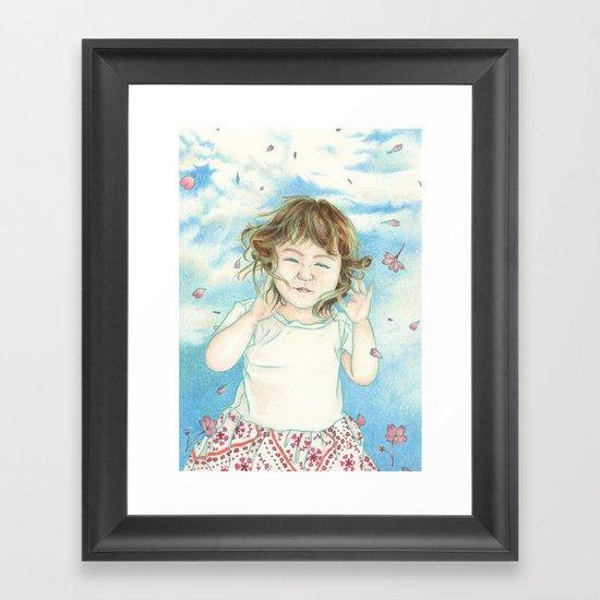 Spring Gust Framed Art Print