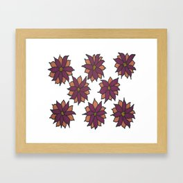 Holiday Two-Toned Flowers Framed Art Print