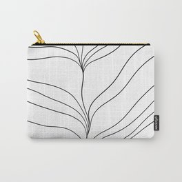 Minimal Ocean Dream Waves #1 #line #decor #art society6 Carry-All Pouch