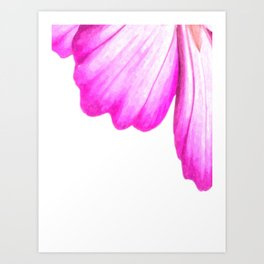 Pink flower abstract watercolor Art Print